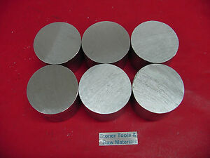 6 Pieces 2 1 4 Aluminum 6061 Round Rod Bar 2 Long Solid Lathe Stock 2 25 Od