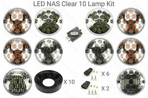 10 Rdx Lux Led Clear Nas All Lights Kit Plinths 4 Pin Relay Land Rover Defender