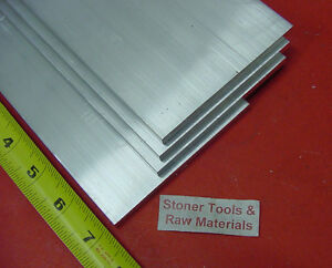 4 Pieces 1 2 X 4 Aluminum 6061 Flat Bar 7 Long Solid T6511 Plate Mill Stock