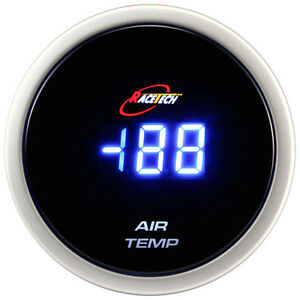 52mm Inside Outside Thermometer Digital Air Temp Gauge Meter Blue Led