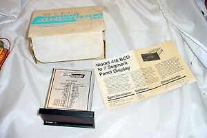 Nos Cincinnati Electrosystems 416 Bcd 7 Segment 4 Digits Panel Display