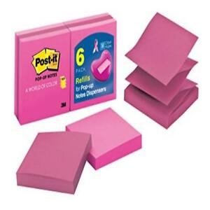 New Pink Post it Pop up Notes 3 X inches Assorted Colors 6 pads pack Girl Mom