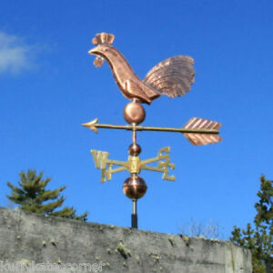 Folk Art Copper Rooster Weathervane Made In Usa 223
