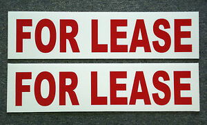 2 For Lease 6 X 24 Real Estate Sign Riders 2 Sided Outdoor New Free Ship