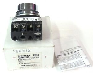 Siemens Oil Tight Flush Cap Push Button Green 52pa8a3j Nib