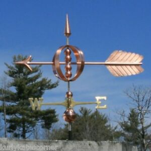 Copper Large Fancy Arrow Weathervane Made In Usa 172
