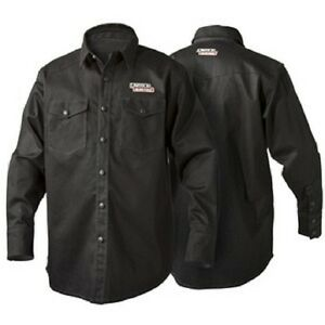 Lincoln K3113 Black Flame Retardent Welding Shirt Size Medium