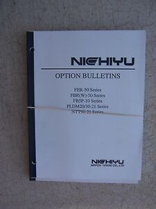 1990 s Nichiyu nyk Forklift Truck Walkie Tow Tractor Option Bulletins Manual S