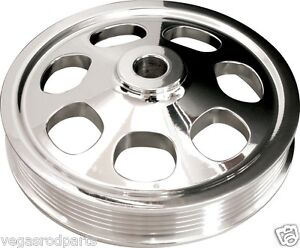 Billet Specialties Sbc Polished Power Steering Pump Pulley keyway serpentine