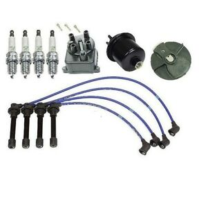 For Cap Rotor Ngk Wire Spark Plugs Fuel Filter Kit Honda Civic Cx Dx Lx 1 6l