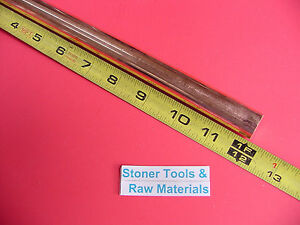 3 4 C110 Copper Round Rod 12 Long H04 Solid Cu New Lathe Bar Stock 750 Od