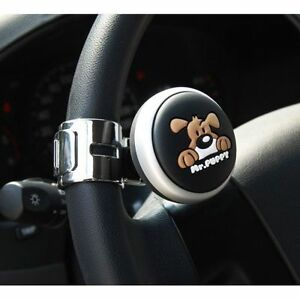 Autocom Mr Puppy Car Power Steering Wheel Spinner Knob Handle Clamp Silver