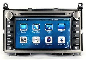 In Dash 2 Din Car Stereo Radio Mp3 Cd Dvd Player Gps Navigation For Toyota Venza
