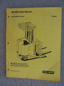 1984 Prime Mover Rr 30b Industrial Reach Truck Parts Manual Exploded Views S