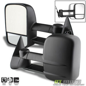 Left Right 99 07 Silverado Sierra Extend Towing Telescoping Side Mirrors Manual