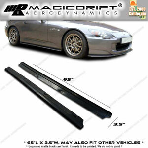 65 X 3 5 Universal Fit Downforce Style Side Skirts Extension Lip Splitters
