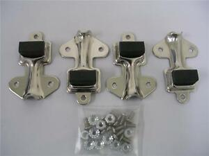 1932 Ford Car 1932 1933 1934 Pickup Truck Stainless Hood Latch Clips Set W Rivet