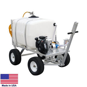 Sprayer Commercial Trailer Mounted 100 Gallon Tank 7 Gpm 150 Psi 5 Hp