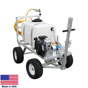 Sprayer Commercial Trailer Mounted 50 Gallon Tank 7 Gpm 150 Psi 5 Hp