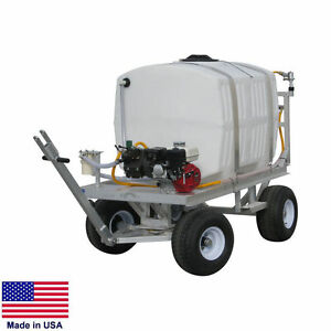 Sprayer Commercial Trailer Mounted 200 Gallon Tank 9 5 Gpm 580 Psi 5 5hp