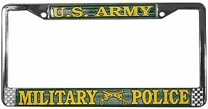 Us Army Military Police High Quality Metal License Plate Frame Made In Usa