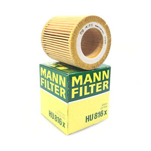Engine Oil Filter Mann Hu816x For Bmw E60 E82 E88 E92 F06 F10 F22 F30 F32 F34