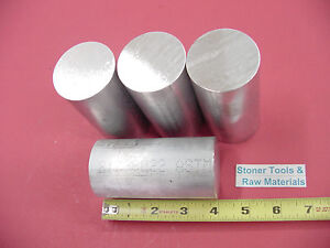 4 Pieces 2 Aluminum Round Rod 6061 Bar 4 Long Solid T6511 Bar Stock 2 00 Od