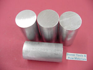 4 Pieces 2 Aluminum Round Rod 6061 Bar 4 5 Long Solid T6 Bar Stock 2 00 Od