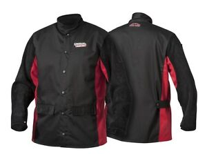 Lincoln Shadow Split Leather Sleeved Welding Jacket K2986 xl Size X large 48 50
