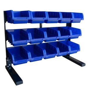 15 Small Parts Bin Storage Shelf Hobby Tools Rack Warehouse Garage Organizer