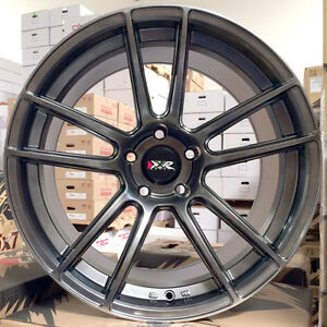Xxr 969 Rs Chromium Black 18 Staggered Rims Wheels 5x4 5 98 04 Ford Mustang Gt