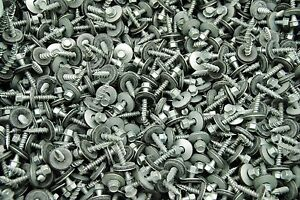 350 Hex Head 10 X 1 Pole Barn Screw Rubber Washer Galvanized Roofing Siding