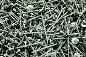 150 Hex Head 10 X 3 Pole Barn Screw Rubber Washer Galvanized Roofing Siding