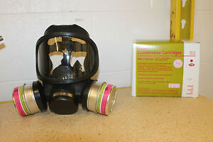 Msa Ultravue Full Face Gas Mask 2 Gme p100 Filters New Medium
