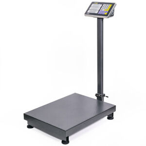 New 600lb Weight Computer Scale Digital Floor Platform Shipping Warehouse Postal