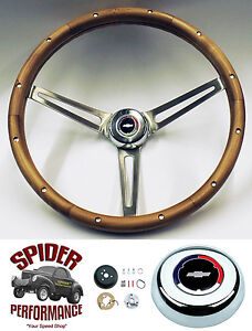 1968 Camaro Steering Wheel Red White Blue Bowtie 15 Muscle Car Walnut