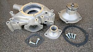 Bb Mopar Dodge Chrysler 350 440 Aluminum Water Pump Housing Inlet Complete Set