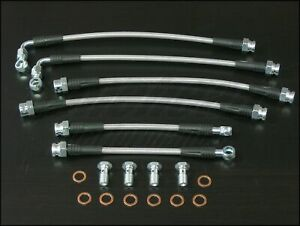 Techna Fit Stainless Steel Braided Brake Lines 1998 2002 Chevrolet Camaro W Trac