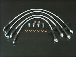 Techna fit Stainless Steel Braided Brake Lines 2002 2006 Acura Rsx Type S