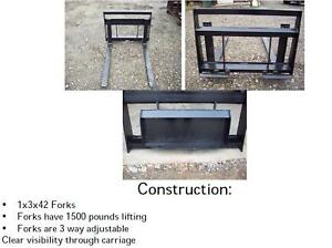 New Walk Behind Mini Skid Steer Loader Pallet Forks