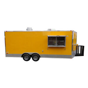 Concession Trailer 8 5 X 20 yellow Enclosed Vending Food Custom