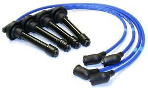 Spark Plug Wire Set Blue Ngk Silicone 9988 For Honda Civic Crx 1988 1991 L4