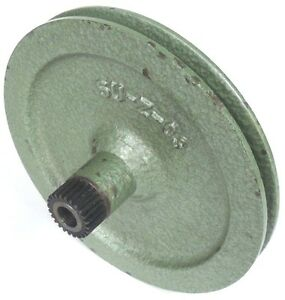 Green Cast Iron V belt Pulley P n Su z 03 6 1 2 O d