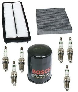 For Honda Accord 3 0 Tune Up Kit Opparts Air Cabin Air Bosch Oil Filters Plugs