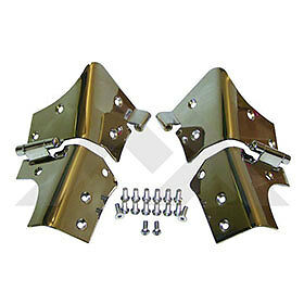 Windshield Hinge Set Ss Jeep Wrangler Tj 1997 2006 With New Stainless Hardware