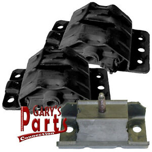 Engine Transmission Mounts 3 Pontiac Catalina 1977 78 79 80 301 Cu In V 8