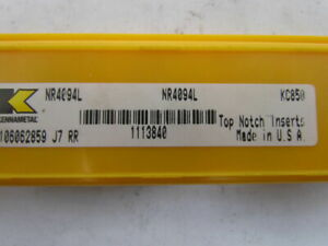Kennametal Nr4094l Kc850 Carbide Insert Grade Kc850 Box Of 5pcs