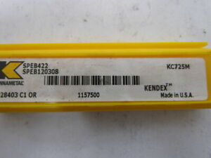 Kennametal Speb422 Kc725m Speb120308 Carbide Insert Grade Kc725m Lot Of 7pcs
