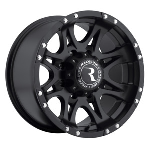 Set 4 17x9 12 8x165 1 8x6 5 Raceline Raptor Black Wheels rims 17 inch 13148