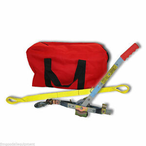 Arborist Combo W 6 Strap large Gear Bag core Tree Strap long Haul Rope Puller